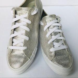 CONVERSE Gemma Metallic Chuck Taylor Shoes 9.5